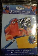 Finding Dory Thank You Cards (8) ~ Birthday Party Supplies Stationery Cards Blue