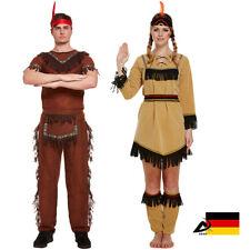 Indianerin Indianer Squaw Partner Kostüm Damen & Herren Indianerkostüm Fasching