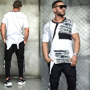 By Alina Herrenshirt Oversize T-Shirt Rundhals Kurzarmshirt Hemd XL  #M38