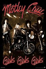 Motley Crue Girls Girls Girls Music Poster Print Tommy Lee Sixx Neil, New, 24x36