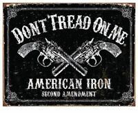 DON'T TREAD ON ME TIN SIGN - NEVER SURRENDER METAL POSTER WALL ART DECOR