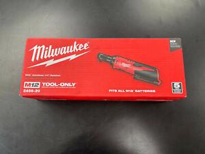 "Milwaukee 2456-20 M12 Cordless REDLITHIUM Variable Speed Trigger 1/4"" Ratchet"