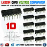 10pcs IC LM339 LM339N DIP-14 LOW POWER Quad Voltage Comparator USA seller