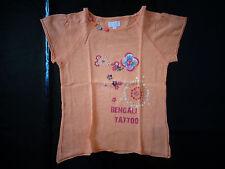 tee-shirt orange 8 ans La Compagnie des Petits TBE