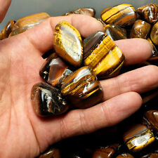 50g Bulk Tiger Eye Tumbled Stones Rock Small Natural Crystals Decor 35mm
