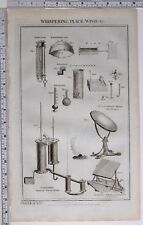 1788 ORIGINAL PRINT WHISPERING PLACE WIND EUDIOMETER BUFFONS BURNING MIRROR