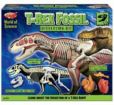 World of science t rex fossil dissection kit faites votre propre dinosaure set