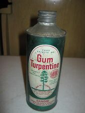 1923 Vintage Gum Turpentine Elroy Turpentine Advertising Tin Can EMPTY ONLY