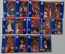 1991-92 Fleer Philadelphia 76ers Sixers Team Set Of 14 Basketball Cards