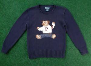 Polo Ralph Lauren Bear Sweater Youth Size 7 Palace Rare