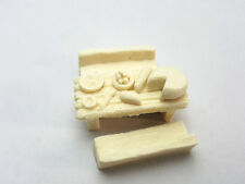 Small Table & Foods kit-  D&D dnd Pathfinder rpg terrain scenery dungeon 28mm