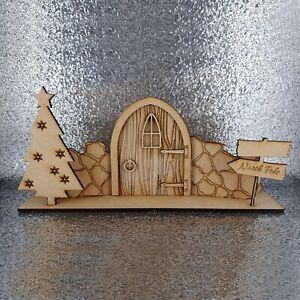 Christmas elf door scene mdf wood decoration kit