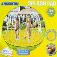 "Ancesfun Kids Sprinkler Mat, 67"" Splash Pool Play Pad Water Toys for Children"