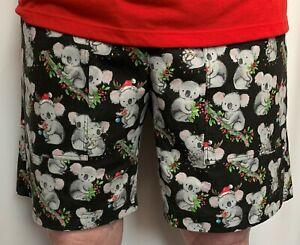 Ladies Christmas Koala Long Leg Shorts sew-ezy-australia