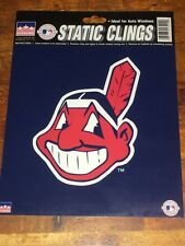 NEW CLEVELAND INDIANS STATIC CLINGS WINDOW STICKER CHIEF WAHOO LOGO BASEBALL
