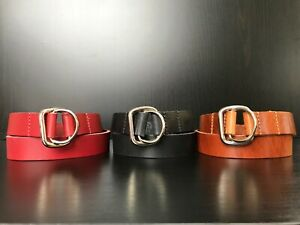 Genuine Hide Leather Slip P Choke Collars for Large Dogs Taining K9 Pitbull