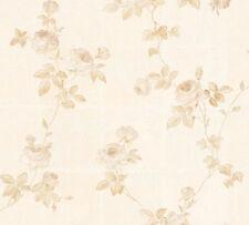 Vlies Tapete Kacheln Blumen Floral Kletterrosen weiß creme 34501-2 Chateau 5