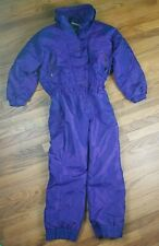 Nice Edelweiss Womens 12 Vintage Shiny Purple Crazy Snowboard Ski Suit Ladies