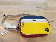 Lacoste L!VE Messenger Bag Red Blue Yellow NWT