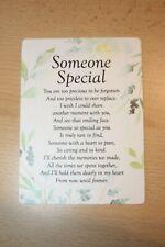 Someone Special Waterproof Memorial Grave Card Remembrance Poem Keepsake