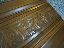 1890 Embossed Carving Keyboard Cover Wood Victorian Pump Reed Parlor Organ Piano