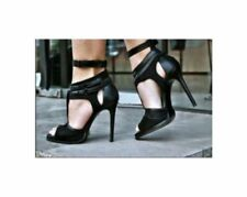 Zara Patternless Evening & Party Strappy, Ankle Straps Heels for Women