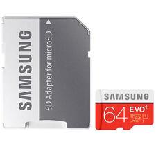 Samsung Carte Mémoire EVO Plus 64 Go Micro SD SDXC Avec Adaptateur class 10