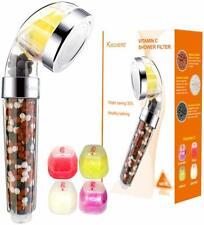 KISCHERS Shower Head Handheld Vitamin C Shower Filter 200% More Pressure For Dry