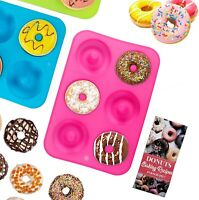3pcs Mini Non-Stick Silicone Donut Pan Mold Doughnut Cake Bagel Baking Tray Set