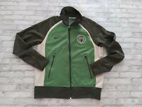 VTG 2000 Nike Men's Long Sleeve Full Zip Embroidered Logo Track Jacket Green L