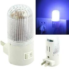 US Plug 4 LED White Night Light Switch Wall Mounted Lamp Bedroom Lighting Bulb