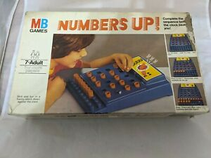 Vintage Retro MB Games 1977 Numbers Up ! Sequence Fun Game Complete