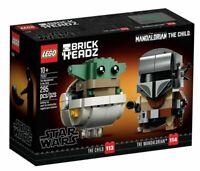 LEGO 75317 Star Wars BrickHeadz The Mandalorian & the Child - Brand New In Box!