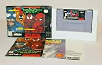 Venom Spider-Man Separation Anxiety SNES COMPLETE CIB AUTHENTIC & Tested! NICE!