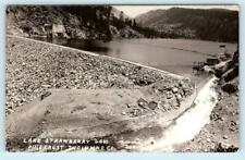RPPC  PINECREST, CA ~ LAKE STRAWBERRY DAM Tuolumne County 1924  Postcard