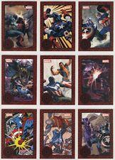 2014 Marvel Universe CAPTAIN AMERICA GREATEST BATTLES Set (9 cards) Red Parallel