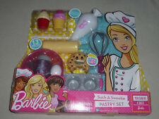 NEW YOU CAN BE BAKER BARBIE SUCH A SWEETIE PASTRY SET PLAYSET  MATTEL NIB 13 PCS