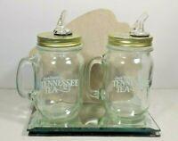 2 JACK DANIELS TENNESSEE TEA MASON JAR SIPPER CUPS