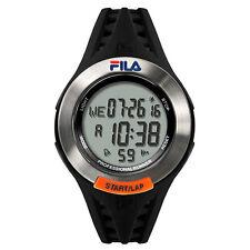 FILA CASUAL 38-003-001 Uhr Armbanduhr Sport Pro Runner Unisex Silber Schwarz