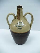 Rare Vintage Brown Jug Apple Jack Brandy Double Handle Jug