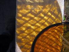 """Vintage Golden Pulled Feather Art Glass Large 9"""" Vase"""