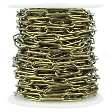 5x7mm Gold Cable Chain Necklaces Antique Rolo Style Cable Chains Craft Necklaces 10 Pk 24-5mm x 7mm Flat Oval Links