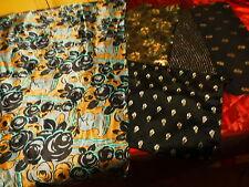 les 4bandes tissu brillantés pour  patchwork ,ou autre +1mx0,65  du vintage