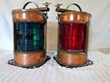 Large Antique Imco Bt Nautical Lights Maritime Port & Starboard Copper Housing