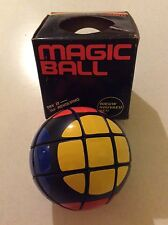 "Vintage 80's Magic Ball Round Circular Rubiks ""cube"" Toy Unsolved new with box"