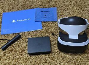 PlayStation VR (PSVR V2) Bundle - Headset, Camera + Cables + VR Worlds