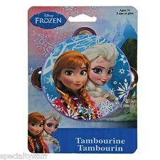 NEW DISNEY FROZEN TAMBOURINE BOW-TIQUE 3+ TAMBOURIN (SF)