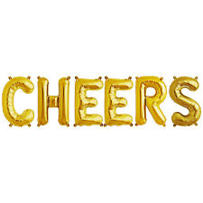 Party Supplies Gold 41cm Foil Letters Balloon 'CHEERS' Birthday Wedding