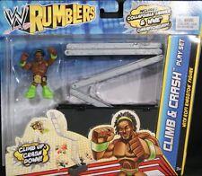 WWE RUMBLERS CLIMB & CRASH PLAYSET W/ KOFI KINGSTON FIGURE NU