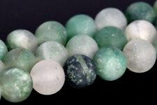 6MM Natural Matte Green Calcedony Beads Grade AAA Round Loose Beads 15.5""